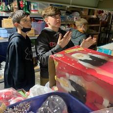 BPC Shine Teens service project at Chris