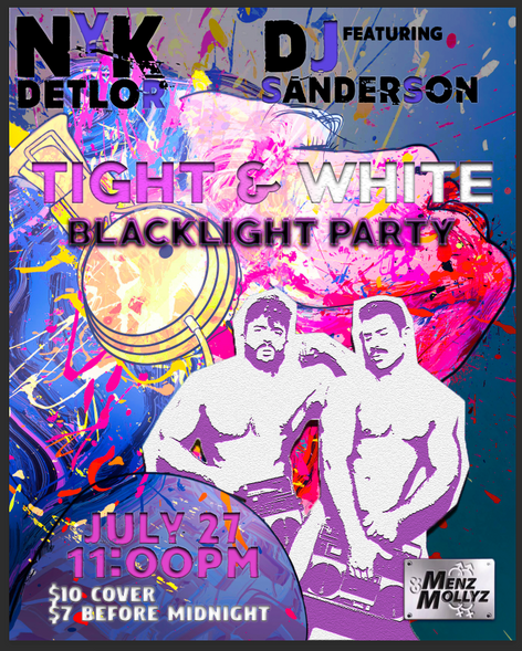 Tight & White Blacklight Party