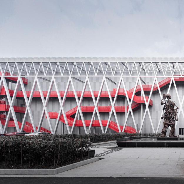 Factory Exterior - Garden view
