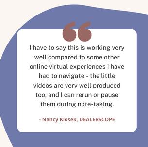 Nancy Klosek, Dealerscope