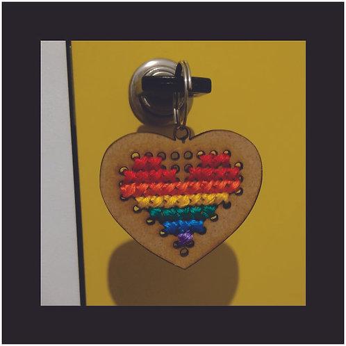Chaveiro Coração LGBTQI+