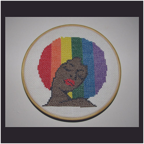 Bastidor de Madeira Black Power LGBTQI+