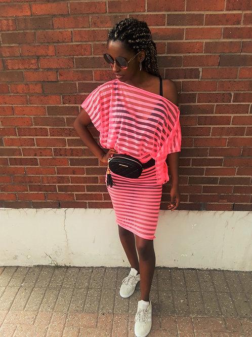 Sheer Stripes Tunic