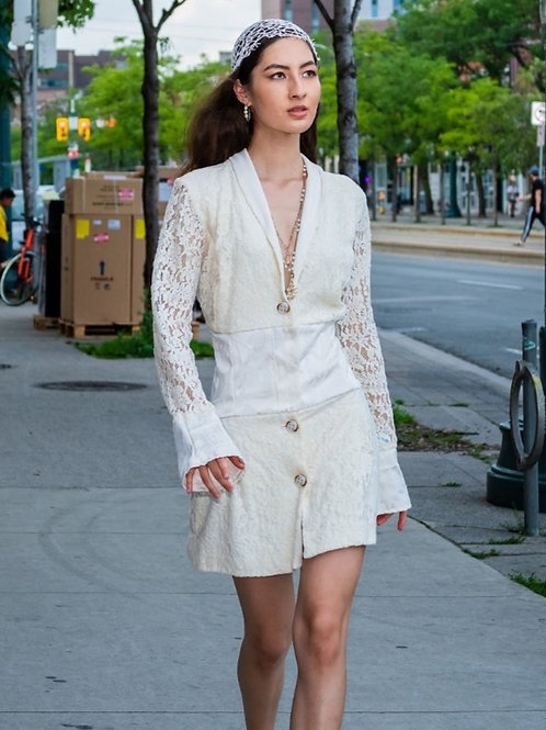 Infinite Ivory Blazer Dress
