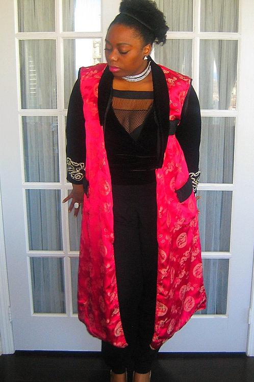 Red Dragon Kimono Vest