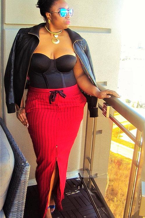 Poppy Pinstripe Maxi skirt