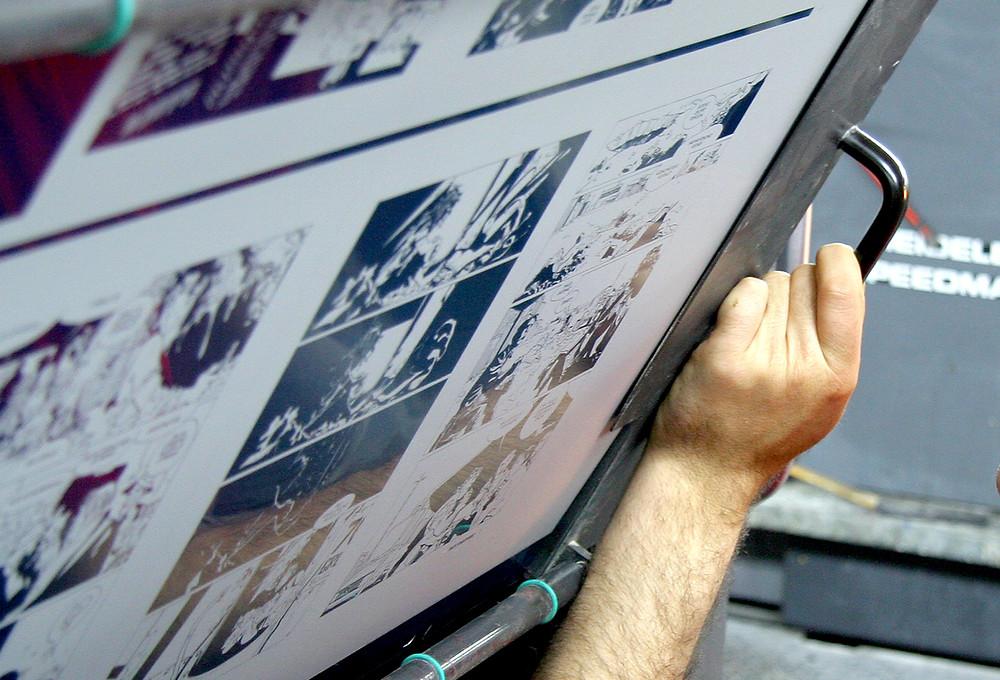 לוח דפוס הדפסת ספר