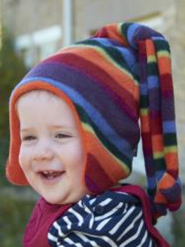 warm stripe loopy hat