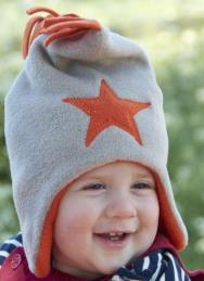 PEBBLE ORANGE STAR HAT