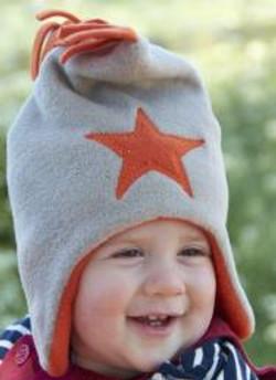 PEBBLE ORANGE STAR HAT