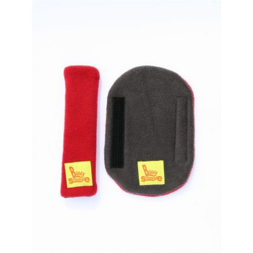 charcoal & red strap covers