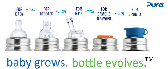 pura stainless - baby grows. bottle evolves