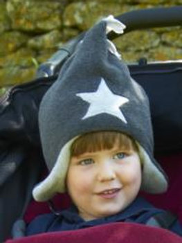 charcoal/silver star hat