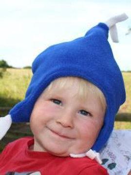 sapphire fleece beany hat