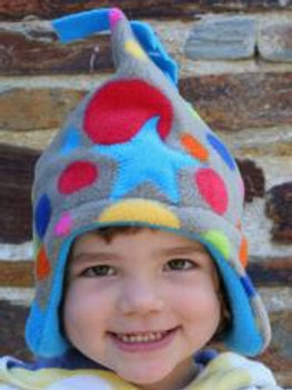 bright bubble/turquoise star hat