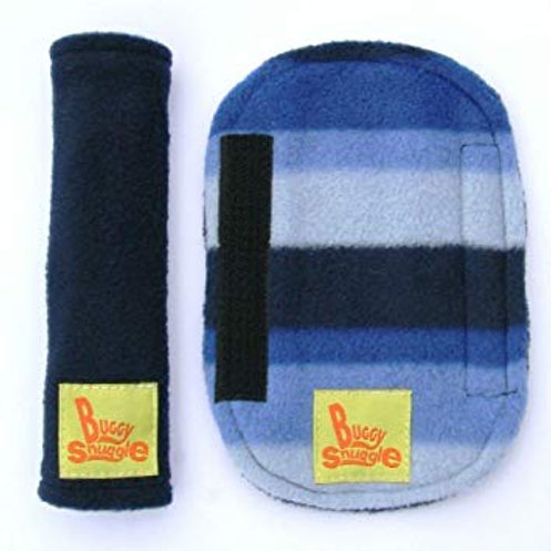 blue stripe & navy strap covers