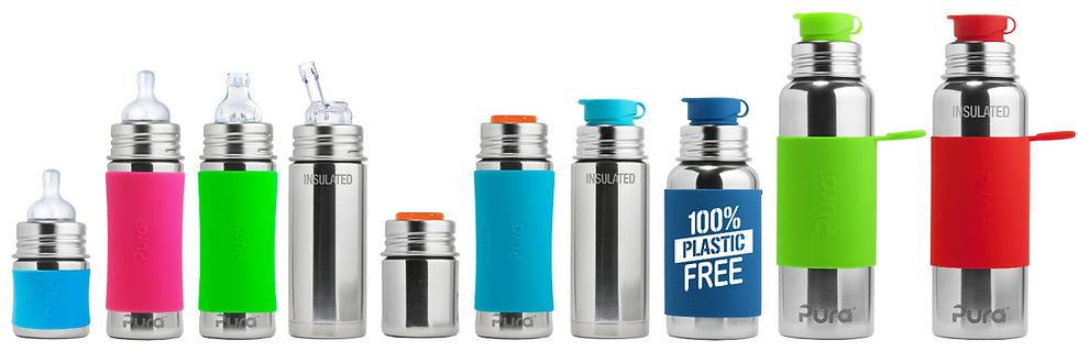 Pura Bottles 100% Plastic Free