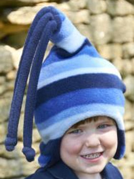 blue stripe loopy hat