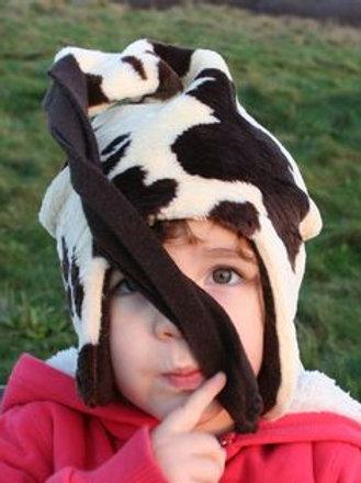 brown cow fur loopy hat