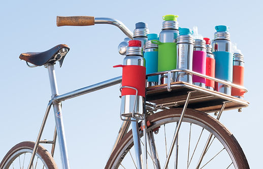 pura stainless UK bottles on bike