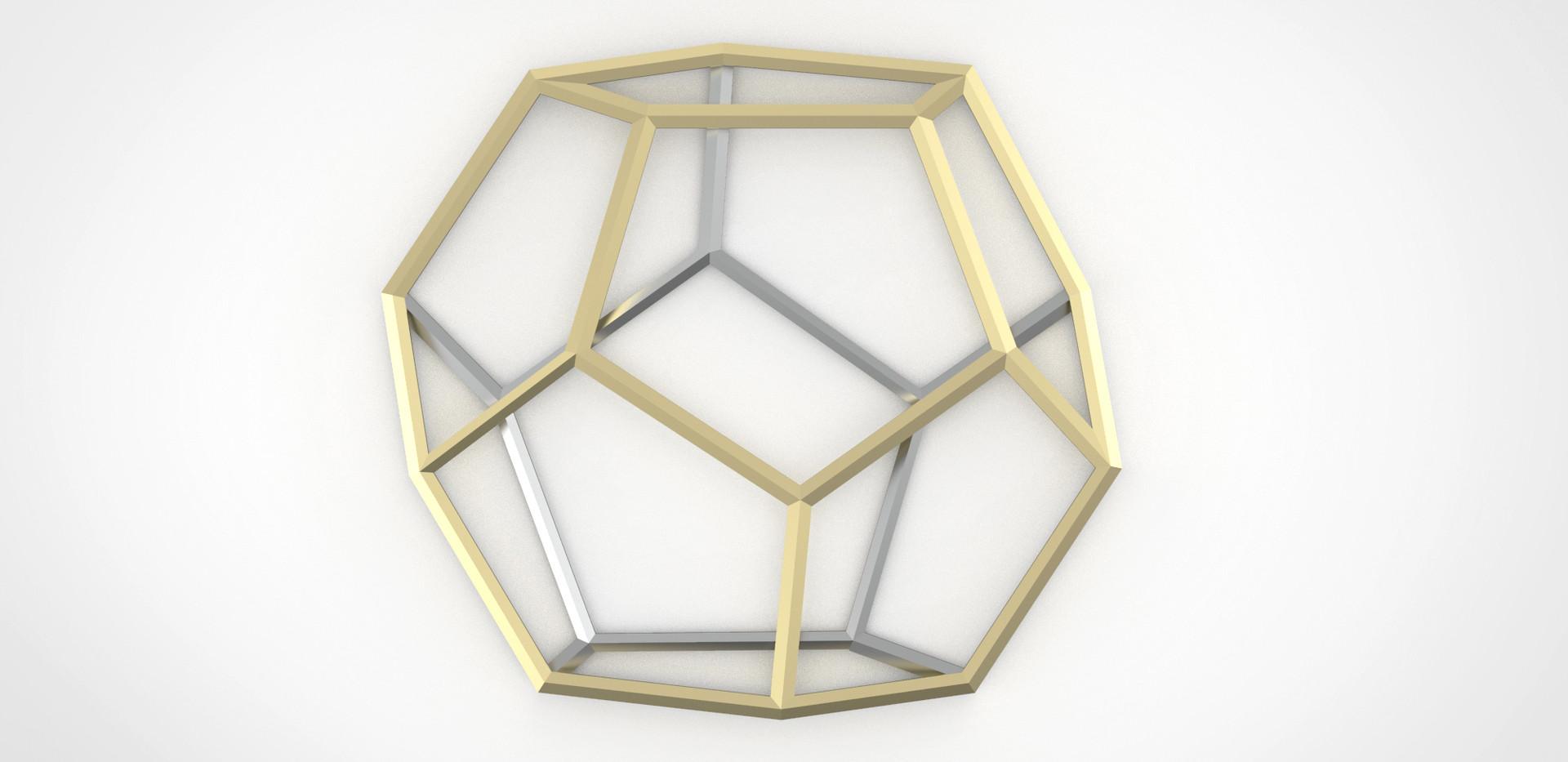 Dodecahedron trivet, Marco Guariglia Design, Size M design studio.