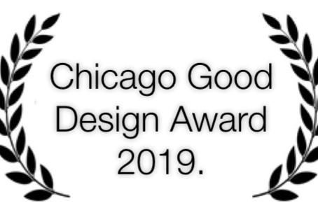 "Size M design won ""Good design Award Chicago"""
