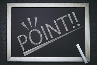 POINTと書かれた黒板