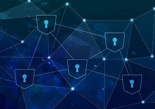 セキュリティとネットワークを表現する図
