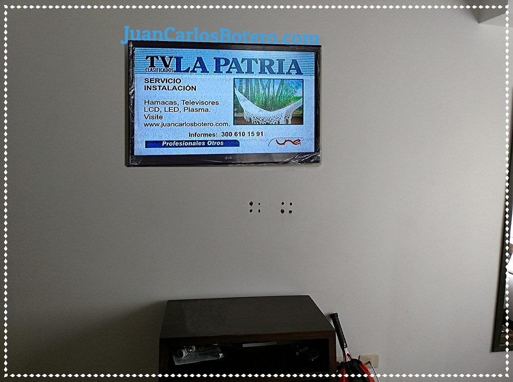 Televisor adecuadamente instalado