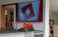 """Tv de 70"""" En Cocina"""
