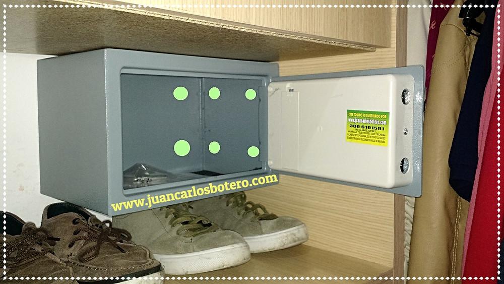 Caja Fuerte Anclada y Asegurada en 8 Puntos para Mayor Seguridad