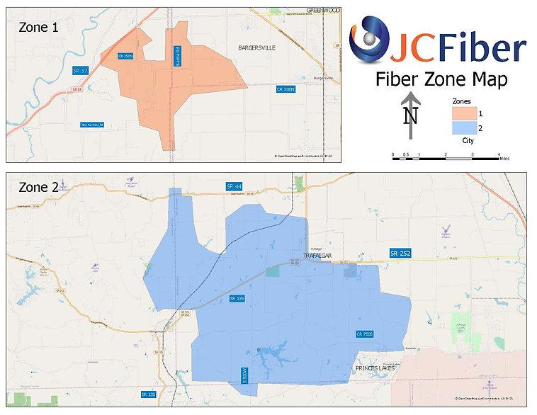 JCFiber Fiber Zone Map