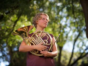 Madeleine Folkerts, new principal horn