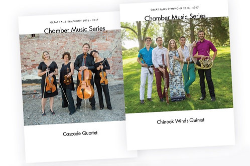 1/8 Page Chamber Music Program Ad