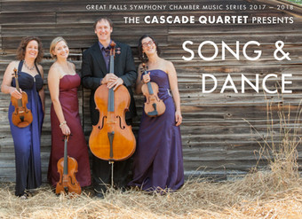 "Chamber Music Series presents the Cascade Quartet in ""Song & Dance"" with guest artist Sarah Dass"
