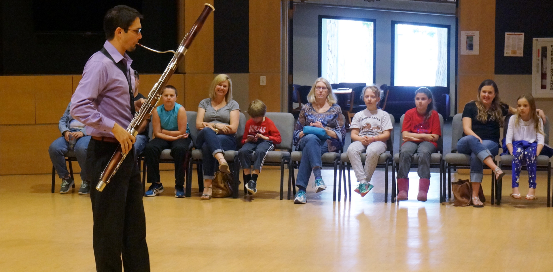 Dorian demonstrating bassoon characters
