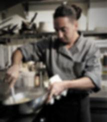 Chef Alessandro Riccobono cooking at Mangia Cucina & Bar