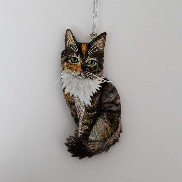 Pet portrait, commissioned 2018. Threadp