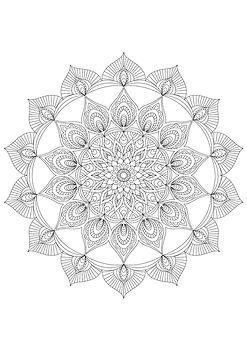 mandala colouring page