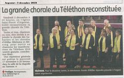 Téléthon Argentat - 3 décembre 2010