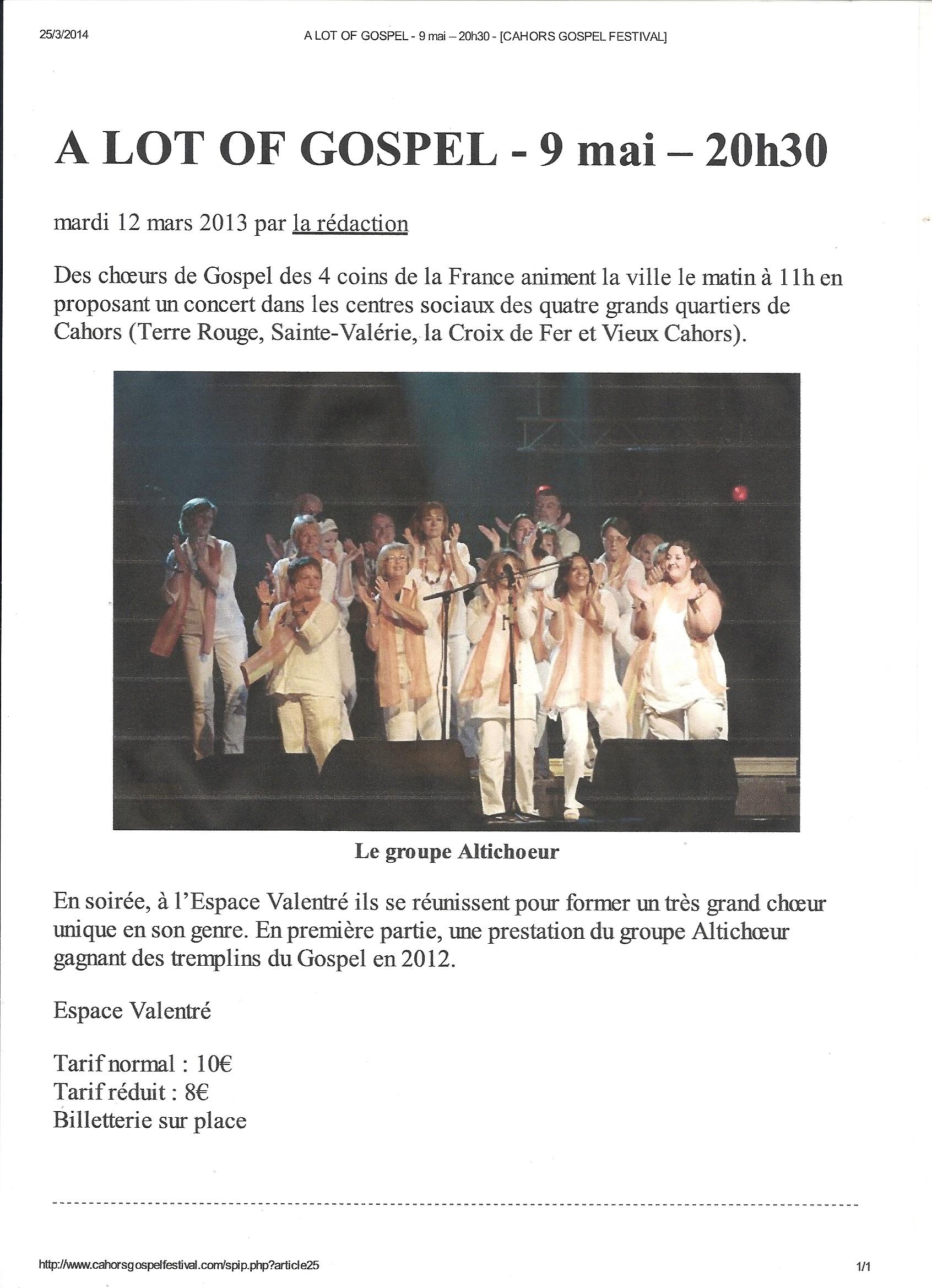 Cahors (46) - 9 mai 2013