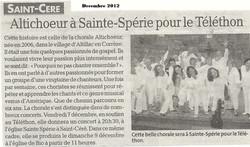 Téléthon St Céré -  décembre 2012