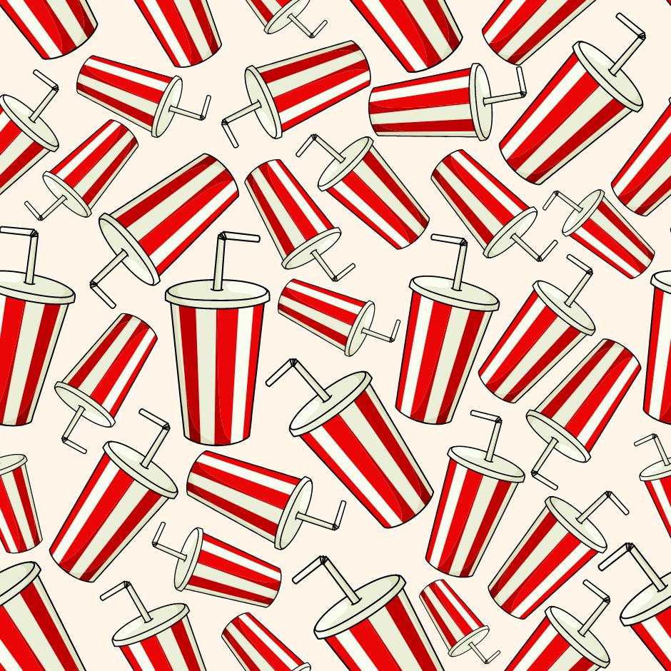 Ilustração de copos de coca-cola