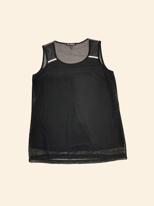 PICADILLY Tank Top with Stripe Trim