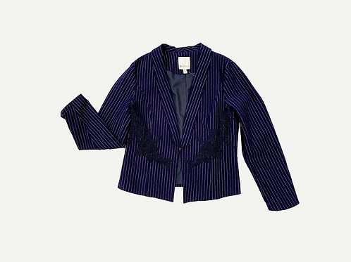Spanner - Pin Strip Lace Detail Jacket