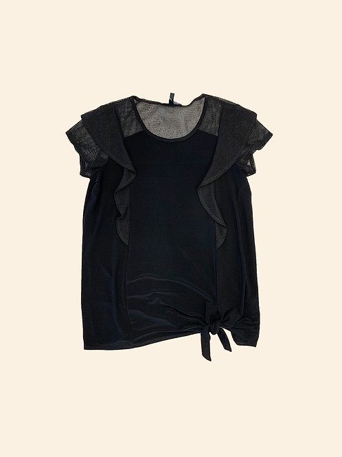 Picadilly Ruffle Detail Top with Tie