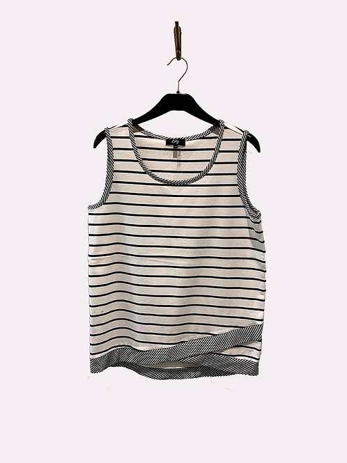 ORLY Striped Tank Top Navy/White