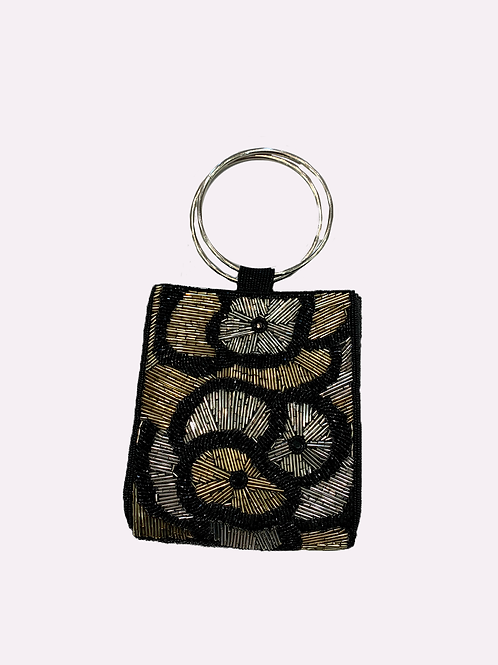 RICKI DESIGNS Ring Handle Beaded Firework Bag