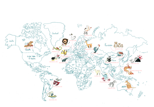 World Map by M. Moya