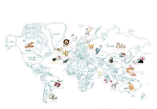 World Map by M. Moya